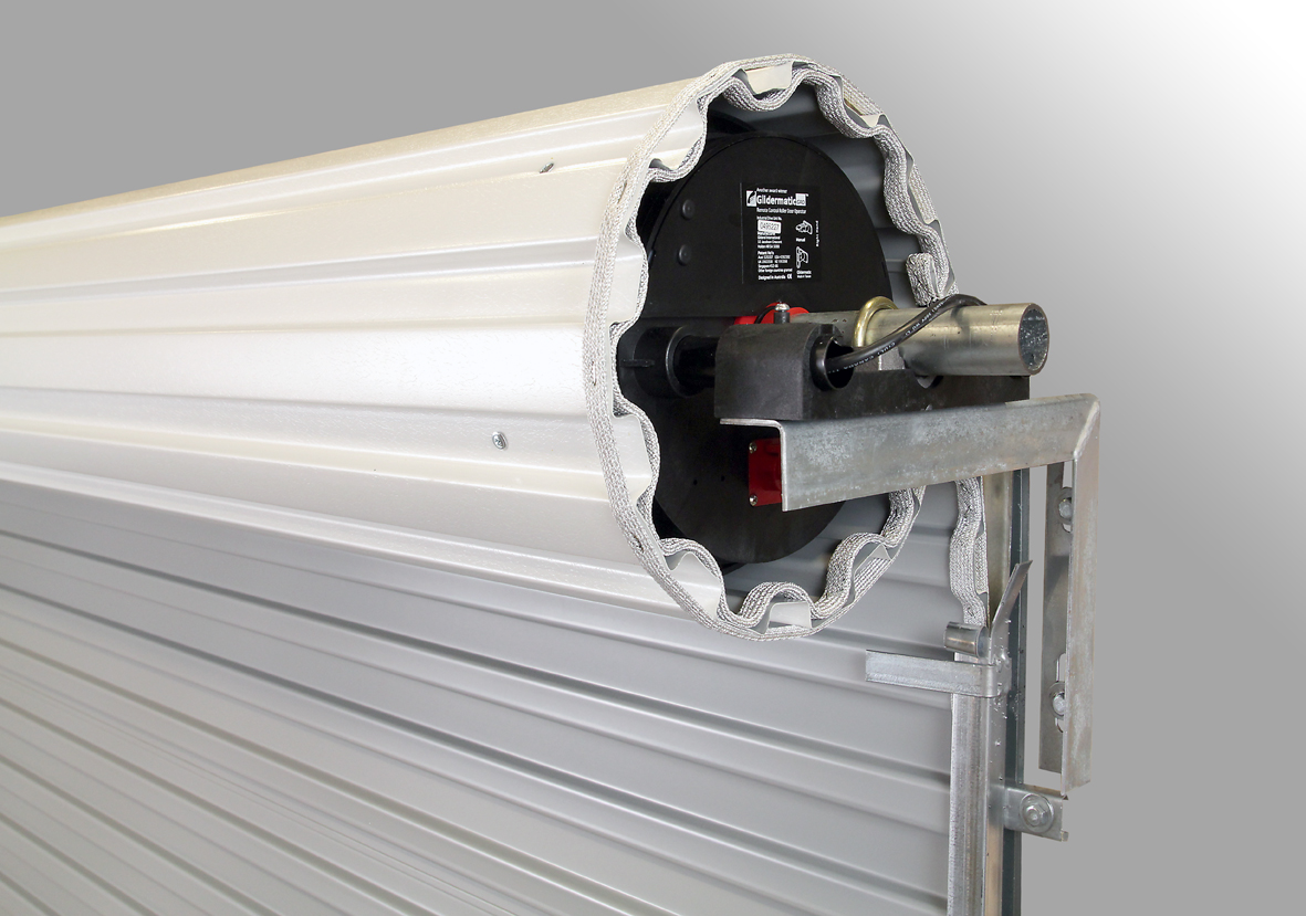 gliderol single skin garage roller door electric opening