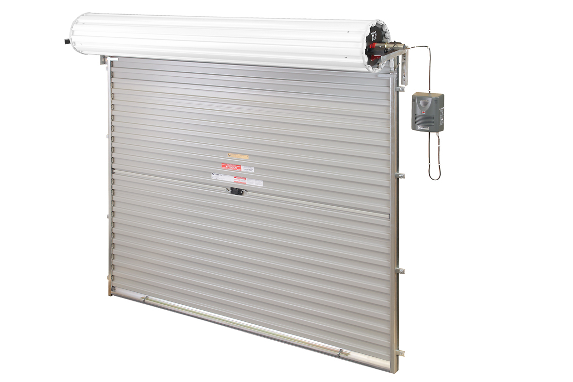 Electric doors emergency lighting escape lighting for Roll up screen door for garage
