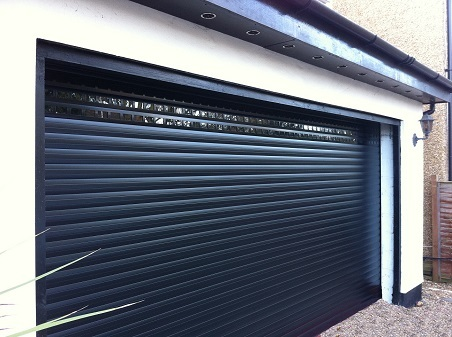 Gliderol insulated door fitted with vision windows