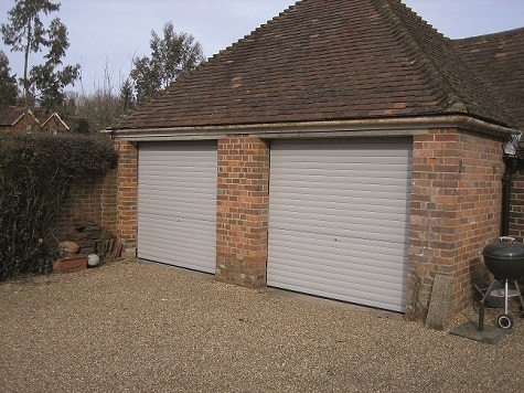 SeceuroGlide garage roller shutters fitted to a double brick built garage