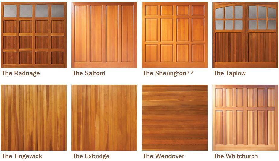 Timber Garage door Designs