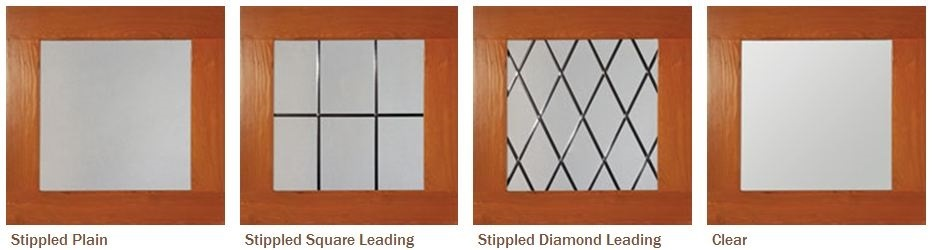 Woodrite Balmoral timber garage door window glazing options