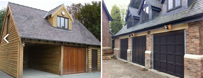 Examples of timber garage doors