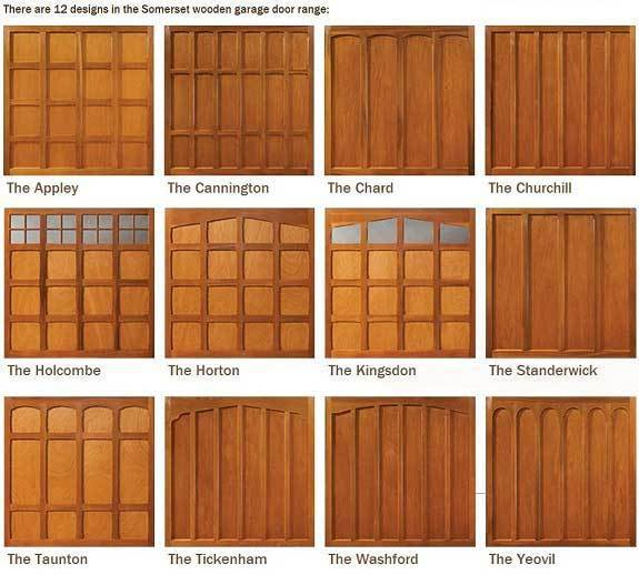 Woodrite Somerset wooden garage door designs