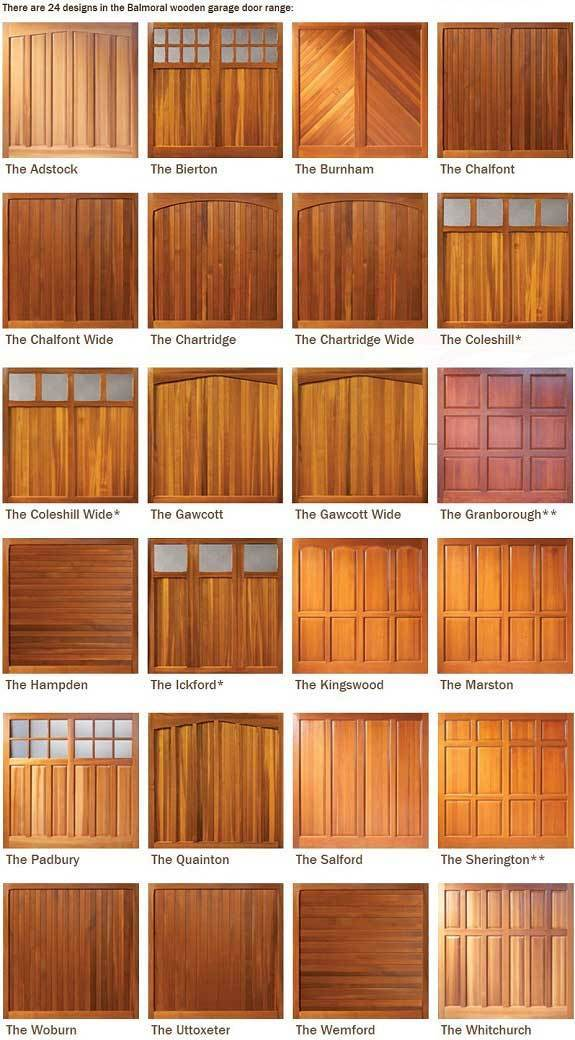 The Woodrite Buckingham range of up & over wooden garage doors